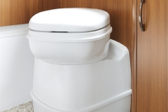 Practical THETFORD rotating toilet