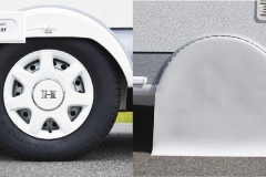 Wheel covers and air pressure display