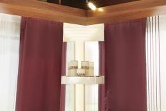 Illuminated corner shelf