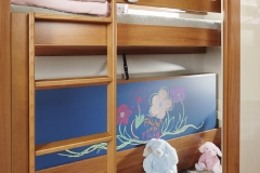 Children's beds with colouring board