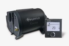TRUMA combination hot air heating system with hot water boiler