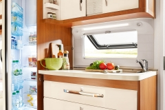 Compact Side Kitchen with Super Slim Tower Refrigerator