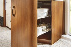Storage basket units with pull-out drawer